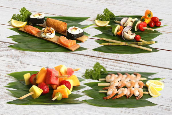 Food Sushi Sugar Cane Planks Skewers